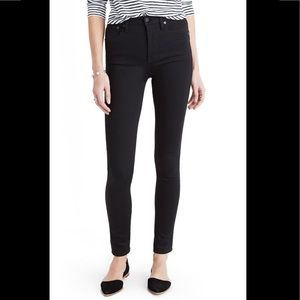 Madewell 10 inch high rise black jeans Sz 28